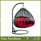 Two seat rattan nest outdoor double swing chair