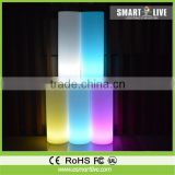 led glow Lightable Polyethylene Cylinder / pillar