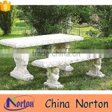 garden stone bench and dinner table for wholesale NTS-B189X
