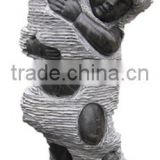 hotel water fountain stone kid marble garden stone statues