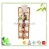 Triangle Bamboo Space Saver, corner rack,bamboo shelf