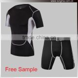 Sports Wear Clothing Rashguard OEM, Custom MMA Rash Guard Shirts and Thermal Compression Shorts Gear for Men