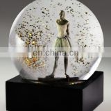 resin dancing girl snow globe