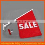 custom advertising double sided wall flag