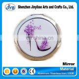 Metal Frame Material and Cosmetic Mirror Type high heel shoe compact mirror