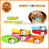 (1064) pet product Christmas promotion mix color build-in LED flash light pet dog collar