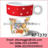 Stackable 8oz Professional White Porcelain Christmas Coffee Mug for White Mugs Wholesale