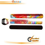 2013 hot selling promotional reflective silicone snap wristband