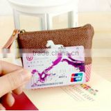 Gunny cloth lovely fashion women coin purse/wholesale key cover