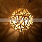 Solar Powered Handcraft 20LEDS Rattan String Light Plug-in Decoration Light Holiday Lighting