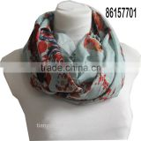 trend turkey scarf infinity loops scarf w large flower printed women spring autumn scarves
