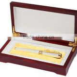 wooden pen set box with souvenir pen