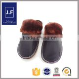 2015 oem mens slipper leather, slipper socks leather soler, leather open toe slipper