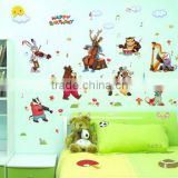 l birthday band Tong qu kindergarten children room background wall decorative wall stickers