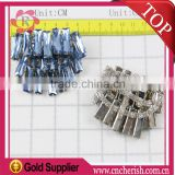 Fashion hight quality ladies rhinestone shoe buckles,bule color,customize shoes decorative