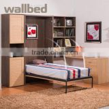 Folding Space Save Wall Bed with bookshelf and office table(SZ-WBA2003)