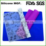 FDA approve Printing Reusable Baby Feeding Meal-Mat Custom Silicone Placemat
