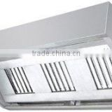 Stainless steel kitchen chimney hood for canteen