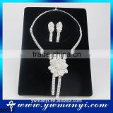 Women latest model fashion flower crystal set for party S0033