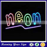 Wholesale outdoor waterproof colorful bar open LED sign