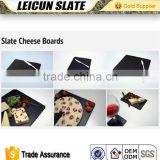 Different sizes and shapes cheese boards food tray natural black stone cheap slate plates