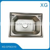 Kitchen stainless steel sink/Single bowl wash sink with drain board