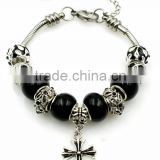 Fashion 7/7.5/8 inch Black Theme Wholesale Charms Bracelet Charms Stainless Steel Charms
