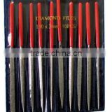Diamond Needle File Set with 10PCS different shape