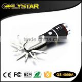 Onlystar GS-4009A hunting camping pocket LED torch zoom brightest multi tool knife flashlight                                                                                         Most Popular
