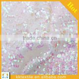 2014 new design hand shiny colorful bead stone embroidery sequins fabric for evening dress