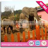 Amusement Park life size outdoor sculpture elephant statue