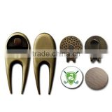Factory price a set of golf accessories: divot tool ball marker hat clip