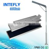 LED Street lights with a nice price from INTEFLY Smart APP control street light all in one 30w 50w 70w street light from China