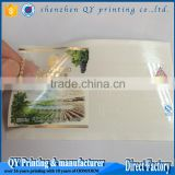 transparent Label Stickers, Custom vinyl hologram sticker printing