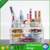 Diamond Handle Clear Acrylic Makeup Organizer,Acrylic Makeup Drawer Box,Flip Cover Acrylic Cosmetic Storage Boxes                                                                         Quality Choice                                                     Mo