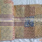Indian Handmade Patchwork Silk Pattola Kantha Quilt/Indian Vintage Hand Stitched Indian ,Drop Shipping