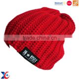 Hairwake Walmart certification wholesale fashion cheap common hat knitted beanie blank hats