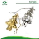 stainless steel christmas trees tea filter christmas gift                                                                                                         Supplier's Choice