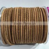 5mm suede leather rope in brown color for making bracelets