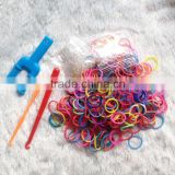 Wholease dropship wholesale loom band colorful silicone loom bands diy loom band kit candy toy