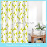 Transparent bright Printed PVC Shower Curtain With Antibacterial Stain