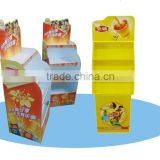 POP Pos Food Cardboard Floor Display Racks,Cardboard Pallet Display Stand
