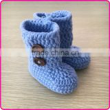 Infant toddler crochet booties hand knitted shoes for baby boys