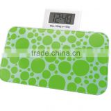 mini color Personal Electronic Digital Bathroom Body Weight scale with retractable LCD Clock