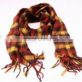 SD04SQ00025 WOOL CLASSICAL PLAID SCARF
