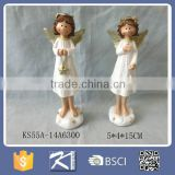 resin christmas angel with star statue for home/office decoration