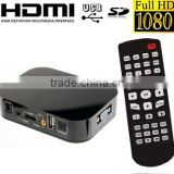 VGA full hdd media player hdmi input 3d blue ray real hd media player