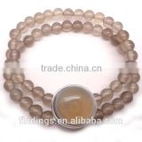 CJ2568 New design gemstone beaded bracelets, agate bracelet, gemstone bead stretch bracelets