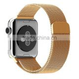 Milanese loop band stainless steel Woven mesh for Apple Watch both 38mm 42mm bracelet strap watchbands with adapter