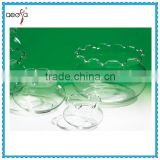 Top Upmarket Wholesale Decorative Large Glass Clear Fish Bowl With Decorative Border